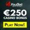 4YouBet Casino - €300 Welcome Bonus