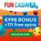 Fun Casino - 111 Free Spins & €998 Bonus
