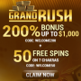 Grand Rush Casino - 50 Spins & $3000 Bonus