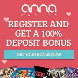 Anna Casino €5 No Deposit & €200 Bonus