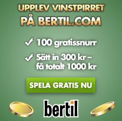 Bertil Casino 100 Free Spins & 233% Bonus