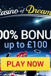 Casino of Dreams 50 Free Spins & 100% Bonus