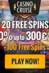 Casino Cruise 20 No Deposit Free Spins & €300 Bonus