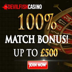 Devilfish Casino €500 Welcome Bonus
