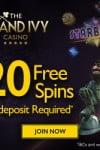 Grand Ivy Casino 20 Free Spins & €300 Bonus