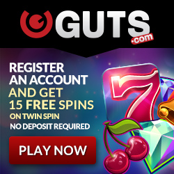 Guts Casino 115 Free Spins