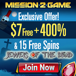 Mission2Game Casino $7 No Deposit & $2000 Bonus