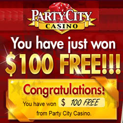 Party City Casino $100 ND Code May 2014