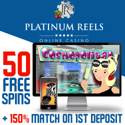 Platinum Reels Casino 20 Free Spins on Tomahawk Slot September 2015