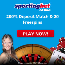 Sporting Bet Casino 20 Free Spins & 200% Bonus