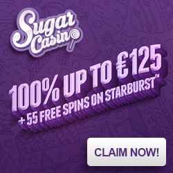 Sugar Casino 55 Free Spins & €125 Bonus