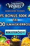 Suomi Vegas Casino 50 Free Spins & €500 Bonus