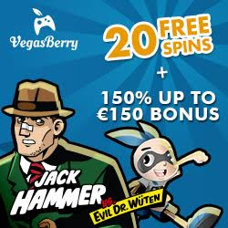 Exclusive 20 No Deposit Free Spins on Jack Hammer