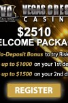 Vegas Crest Casino $10 No Deposit & $1000 Bonus