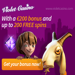 Violet Casino 200 Free Spins & €200 Bonus