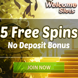 WelcomeSlots Casino 5 Free Spins & 100% Bonus