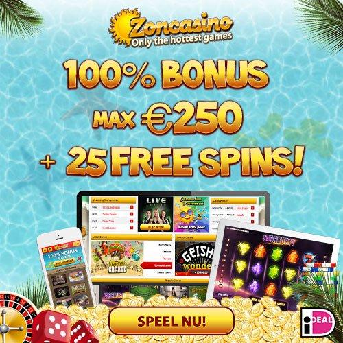 Zoncasino 100% Up To €250 Bonus