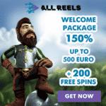 AllReels Casino - 200 Spins & €1000 Bonus