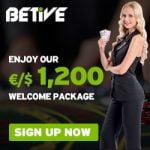 Betive Casino – 120 Free Spins & €200 Bonus