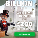 Billion Casino - 100 Spins & €200 Bonus