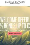 Buck & Butler 75 Free Spins & €350 Bonus