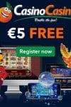 Casinocasino €5 No Deposit & €500 Bonus