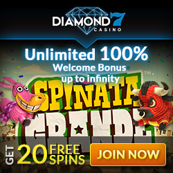 Diamond7 Casino 100% Unlimited Bonus
