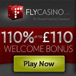 Fly Casino 110% Up To £110 Bonus