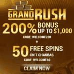 """Grand Rush: 150 Free Spins on """"Sands of Space"""" - June 2020"""