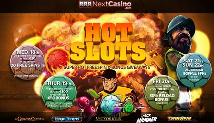 Next Casino Hot Slots Promotion