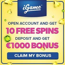 iGame Casino 160 Free Spins & 100% Bonus