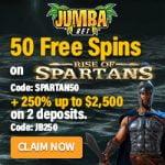 Jumba Bet: $20-$29 Free Chips (No Deposit Bonus Codes) - May 2020