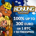 Konung Casino – 100 Free Spins & €350 Bonus