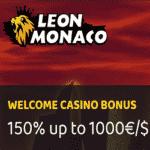 Leon Monaco Casino - €1000 Welcome Bonus