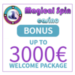 Magical Spin Casino - 50 Spins & €3000 Bonus