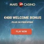 Mars Casino – 25 Free Spins & €150 Bonus