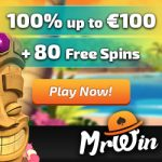 Mr Win Casino – 80 Free Spins & €100 Bonus