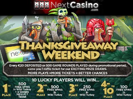 Next Casino ThanksGiving