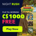 NightRush Casino – CA$1000 Welcome Bonus