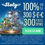 Sloty Casino - 300 Free Spins & €1500 Bonus