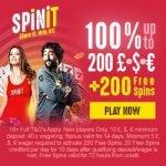 Spinit Casino 200 Free Spins & €200 Bonus