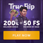 TrueFlip Casino - 50 Spins & €200 Bonus