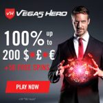 Vegas Hero Casino – 50 Free Spins & €1000 Bonus