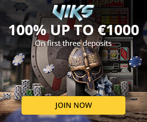 Viks Casino Bonus up to £/€1000